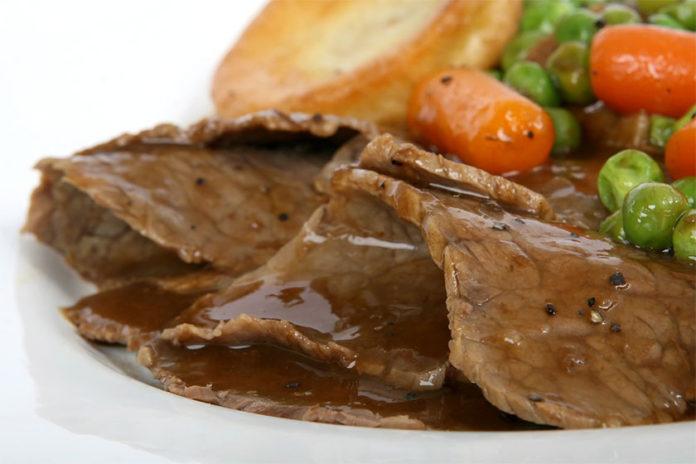 Λεκές από Σάλτσα Ζωμού Κρέατος στο Τραπεζομάντηλο